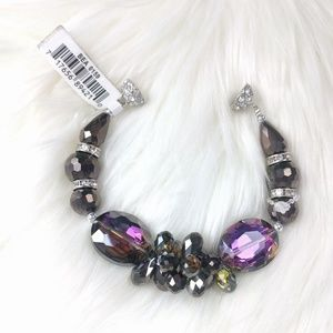 Statement Crystal Bracelet Purple Green Crystal
